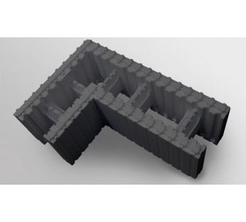 Блок кутовий 750х500х250х250